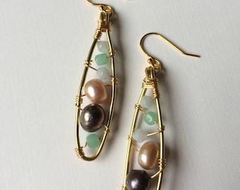 Pearl Paddle Earrings