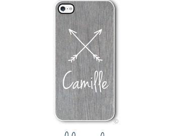 Wood Arrows Phone Case Monogram iPhone 6 Case iPhone 6s Case Samsung Galaxy S5 S6 Case iPhone 5 Case iPhone 6 Plus Case iPhone 5c Style 295
