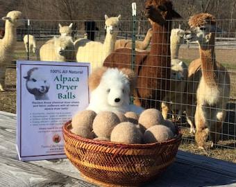 All natural 100% Alpaca Dryer Balls (pack of 3)