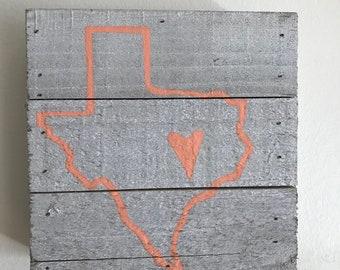Texas wood sign