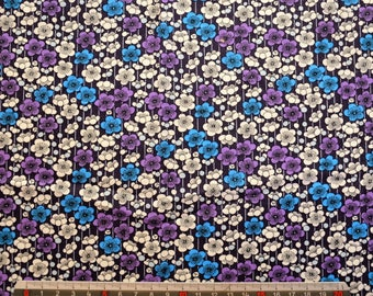 """LIBERTY"" - blue/purple version print cotton fabric"