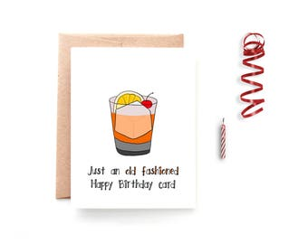 Old Fashioned Birthday Card