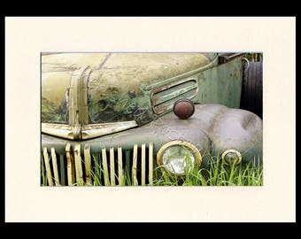 Rusty America Ford Truck Framed Photograph For Any Room ~ A4 Black Frame ~ Printed On Professional Gloss Paper