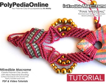 DIY Macrame, Macrame Jewelry Pattern, Macrame Pattern, DIY Jewelry, Macrame Jewelry, Bracelet Pattern, Modern Macrame, How to, Polymer Clay