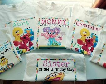 Sesame Street party tees