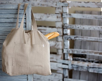 Linen Tote Bag, Canvas Bag, Natural Linen Bag, Big Market Bag, Beach Bag, big Handbag, Large Canvas Tote, Everyday Bag, Gifts for Travel