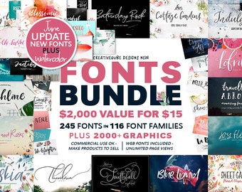 99% OFF, Fonts Bundle, Watercolor Clip Art, Digital Fonts, Wedding Font, Digital Paper, Script Font, Calligraphy Fonts