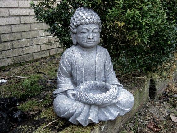 buddha statue garden statues zen garden concrete buddha. Black Bedroom Furniture Sets. Home Design Ideas