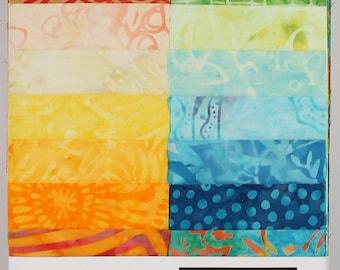 Timeless Treasures Tonga Treats Jr,  Batik Fabric Strips, Happy Hour, Jelly Roll, Roll Ups