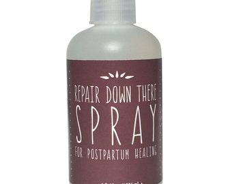 "Postpartum Healing Spray, Postpartum Care, Perineum Tear, ""Repair Down There Spray"""