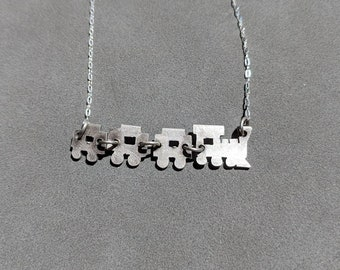 Sterling Silver Toy Train Necklace