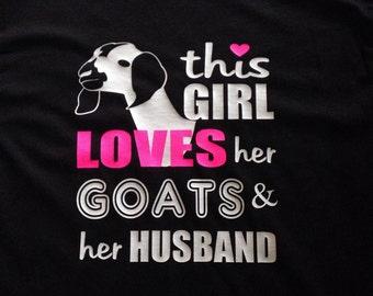 Love goat t shirt