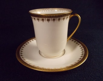 Lewis Straus and Sons, Limoges, France Chocolate Cup and Saucer