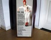 DAVID BOWIE rebel rebel promo poster, lyric sheet,glam,ziggy,aladdin sane,punk rock,typography
