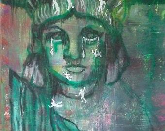 Abstract of Trump's DACA, Immigration & Deportation Policies by artist Joe Cardinal