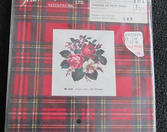 Vintage Jean McIntosh Needlecraft Needlework Kit  Petit Point M101 Complete Unopened Pkg