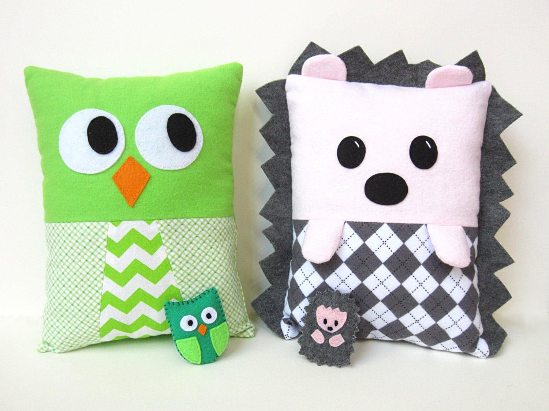 Hedgehog Owl Pillow Sewing Pattern Pdf Kawaii Tutorial With