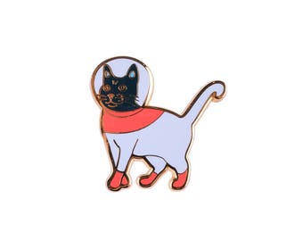 Astro-cat Hard Enamel Cloisonné Lapel Pin