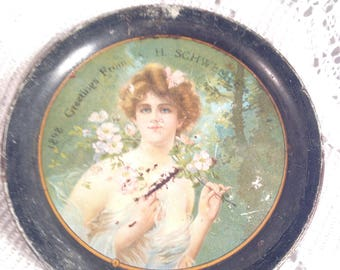 Antique Victorian Coaster, Risque Coasters, 1800 Coasters