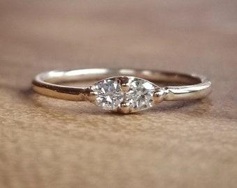 Diamond Ring, Diamond Rings, Womens Gift for Women April Birthstone Ring Diamond Jewelry White Gold Ring 14K Gold Diamond Rings Wedding Ring