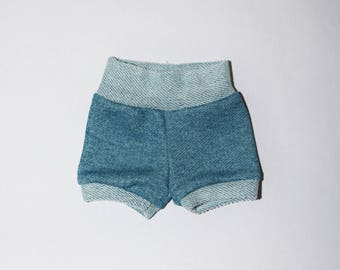 Ocean Blue baby shorties, summer shorts, baby shorties, beach shorts, boy shorts, girl shorties, girl shorts, baby girl shorties, short