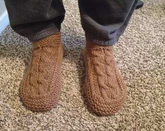 Men's Handmade Knit Slippers-Made to Order