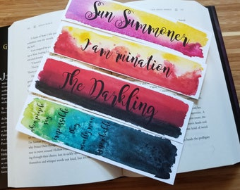 Grisha Watercolor Bookmark, The Darkling, Gift For Booklover