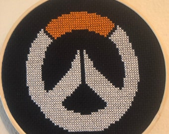 Overwatch Symbol ~ Wall decor, Video Game Cross Stitch