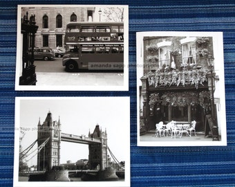 London cards blank cards black and white photography