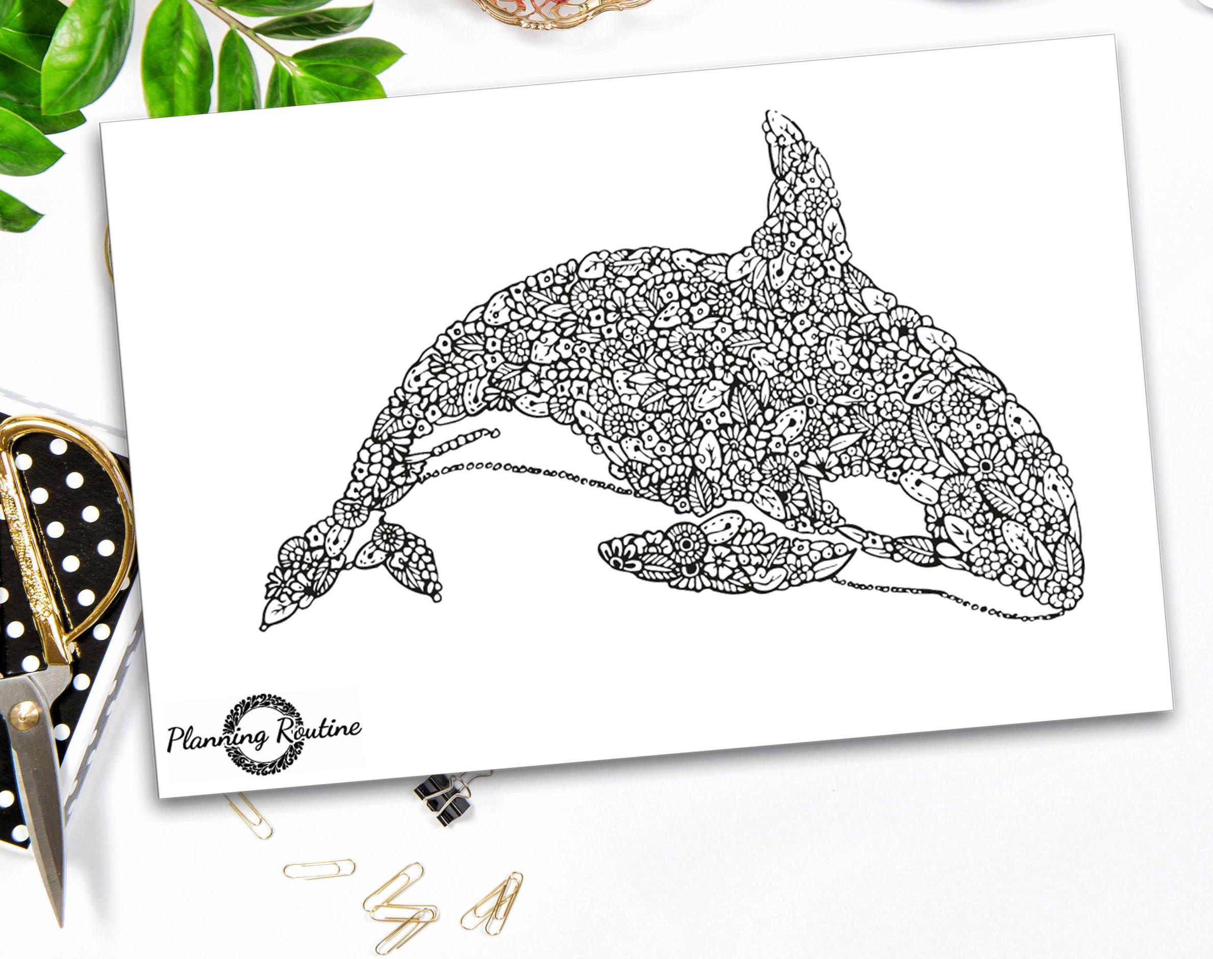 Animales ballena de Mandala, Mandala de la ballena, la ballena de ...