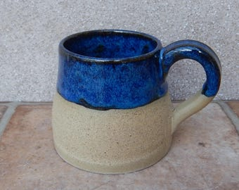 Coffee mug tea cup wheelthrown in stoneware ceramic pottery handmade hand thrown