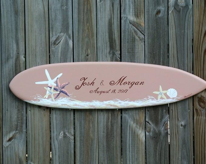Seastar Guestbook, Wood Guest book Wedding Sign, Beach Wedding Decor, Unique Custom wedding gift.