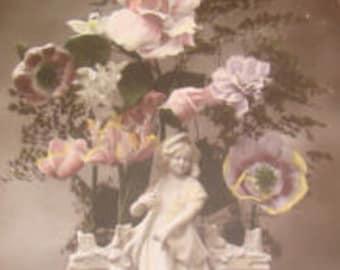 SALE Pretty RPPC Flowers In Vase