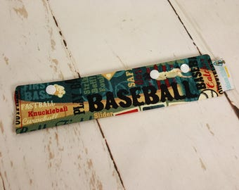"Play Ball Baseball Long Needle Cozy DPN Holder - project holder 9""x2"" - (Hold up to 8"" Needles) NCL0032"