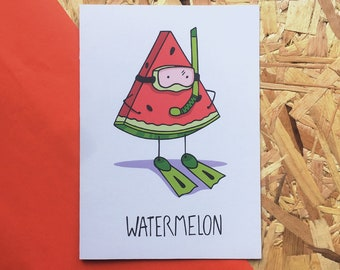 Watermelon — 100% Recycled Greetings Card