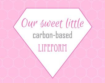 Nursery Prints, Printable Wall Art, Carbon-based Lifeform, Digital Prints, Pink Print, Science Print, Nerd Print, Geek Print, Printable Art