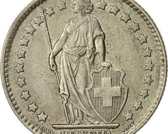 switzerland franc 1961 bern ef(40-45) silver km24