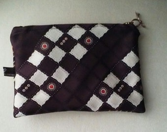 Upcycled Necktie Jewelry or Cosmetic Bag