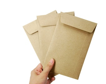 "50 4 1/2""x7"" Brown Kraft Open-end Envelopes for A6 or 4x6 cards and photos"
