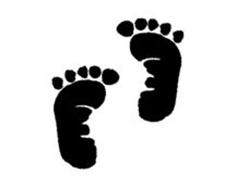 baby announcement cute baby feet prints rubber stamp newborn foot print footprints