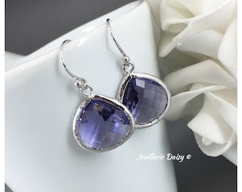 Amethyst Earrings Bridesmaid Gift Purple Tanzanite Jewelry Mother of Groom Gift Mother of Bride Gift for Her Purple Wedding