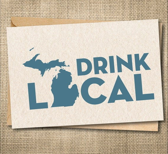 Drink local card drink michigan beer drink beer here like this item m4hsunfo Images
