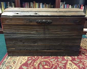 SOLD! Reclaimed wood chest
