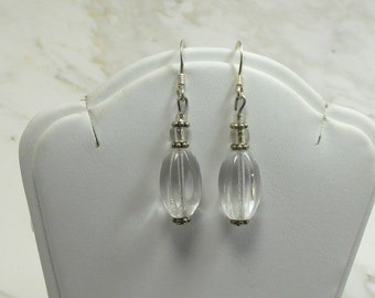 A Lovely Sterling Silver Set of Shepherd Hooks Earrings Made with Glass and Sterling findings