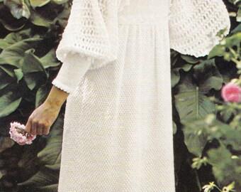 PDF Vintage wedding dress knitting pattern knitted wedding dress pdf INSTANT download pattern only pdf 1970s
