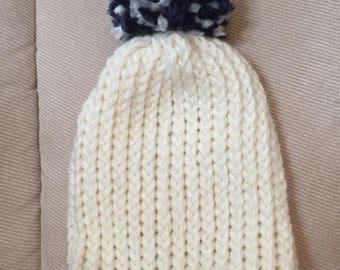 School Spirit Pom-Pom Hat - Preemie & Infant - Made to Order