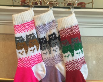 Kitty Cat Christmas Stocking