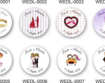 35 personalisierte Umschlag Hochzeit Aufkleber