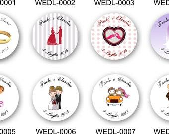 35 personalised envelope wedding stickers