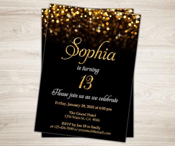 13th birthday invitation girl 13th birthday invite teen like this item filmwisefo Gallery